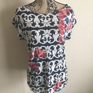 [LOFT] Patterned Linen Pocket Shirt